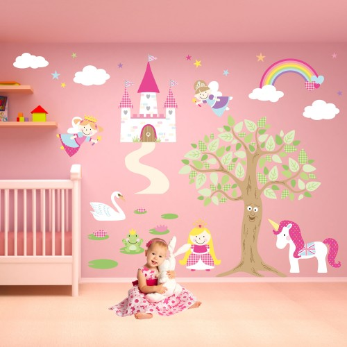 A Little Princess Nursery Design: Luxury Fairy Princess Nursery Wall Stickers