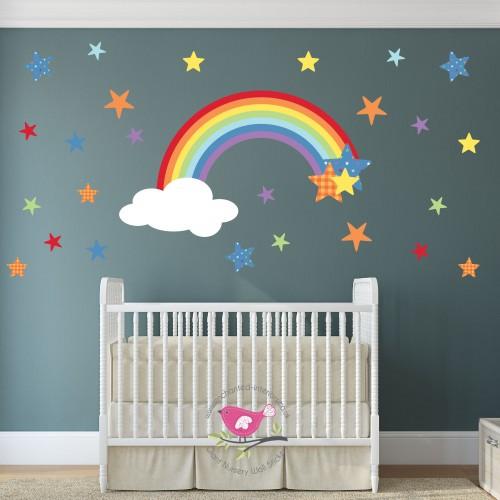 magical nursery rainbow wall sticker unicorn wall stickers wall art kids
