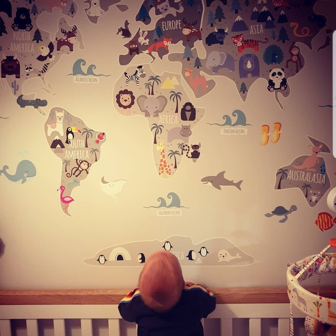 Childrens World Map Wall Stickers