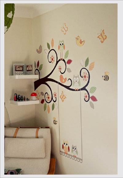 Autumn Owl Nursery Wall Art