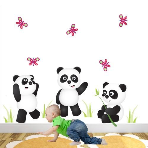 Panda Bears Nursery Wall Stickers