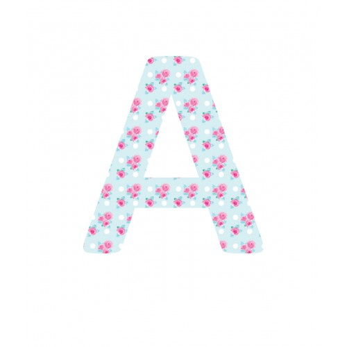 Pink Rose Giant Fabric Letters