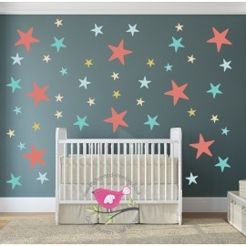Unisex Star Nursery Wall...