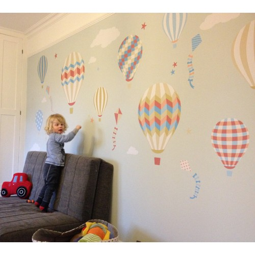 Hot Air Balloon Amp Kites Wall Stickers
