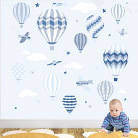 Superior Deluxe Hot Air Balloons And Jets Wall Stickers Part 19