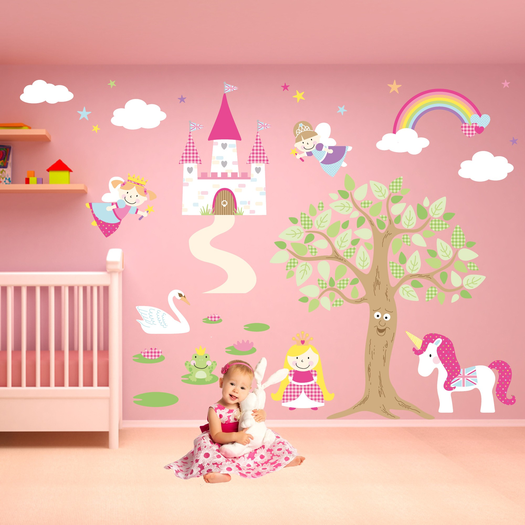 deluxe enchanted fairy princess nursery wall stickers jpg