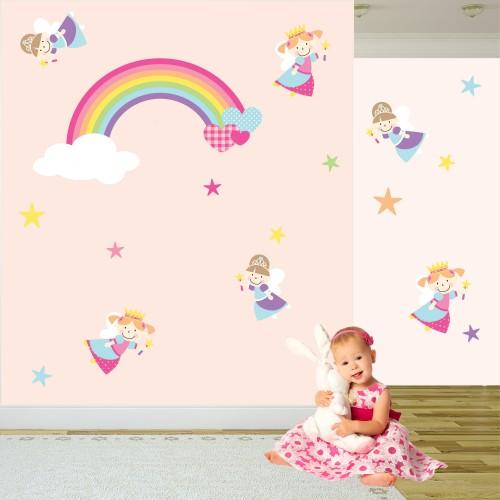Fairy Princess Rainbow Wall Stickers