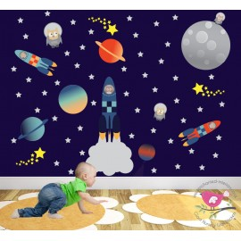 Space Wall Stickers for...