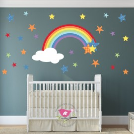 Rainbow Wall Stickers for...