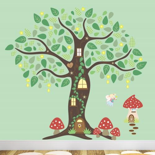 Fairy Folk Enchanted Tree Nursery Wall Art Stickers