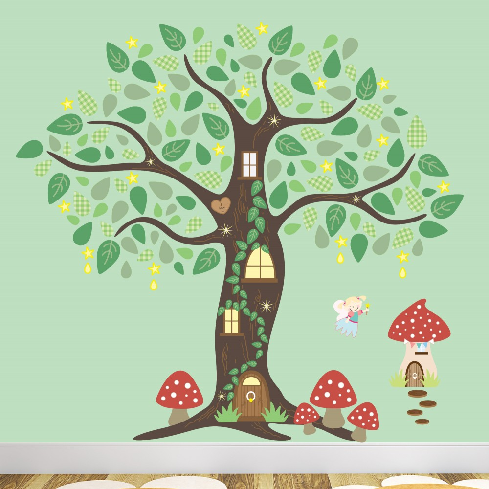 Fairy Wall Art fairy wall stickers - enchanted interiors