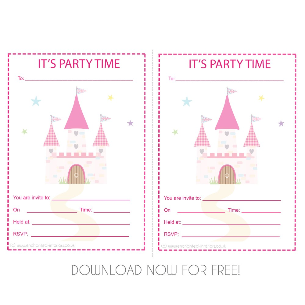 FREE Princess Castle Party Invite