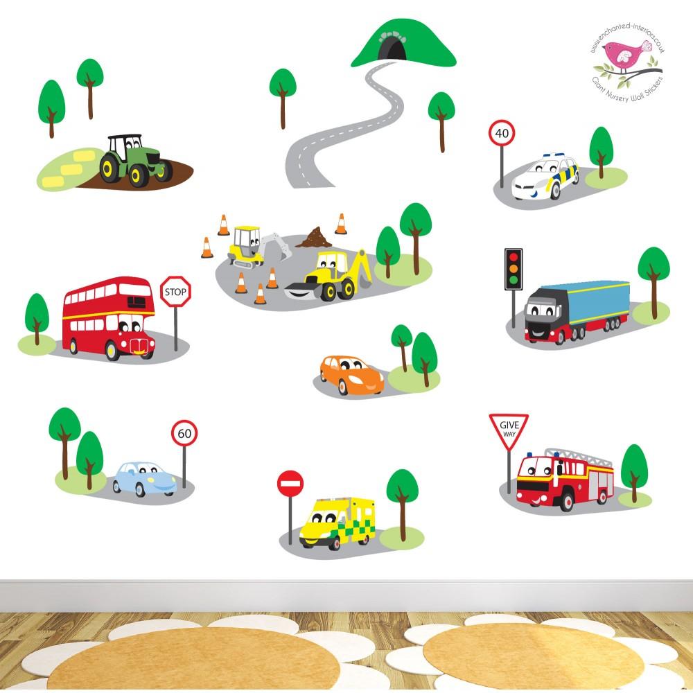 Deluxe Transport Nursery Wall Art