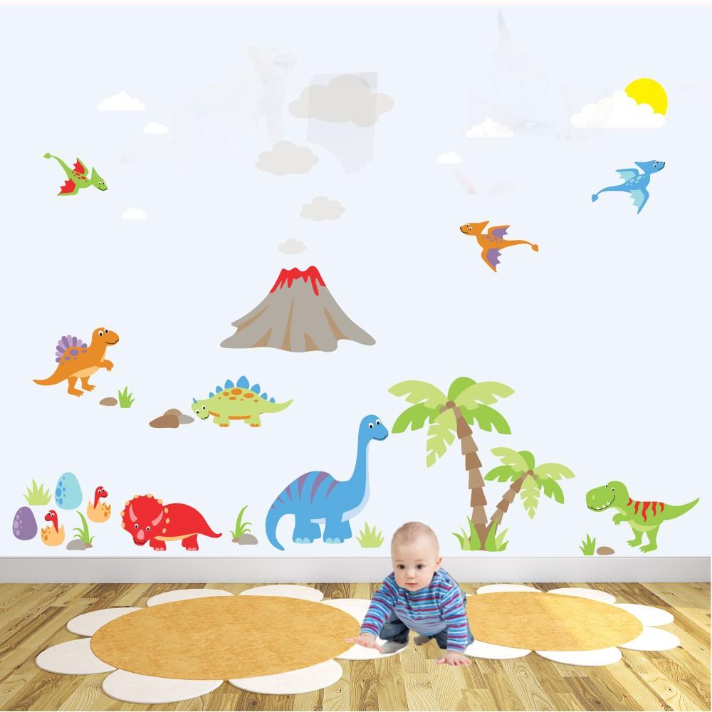 Deluxe Dinosaur Nursery Wall Stickers