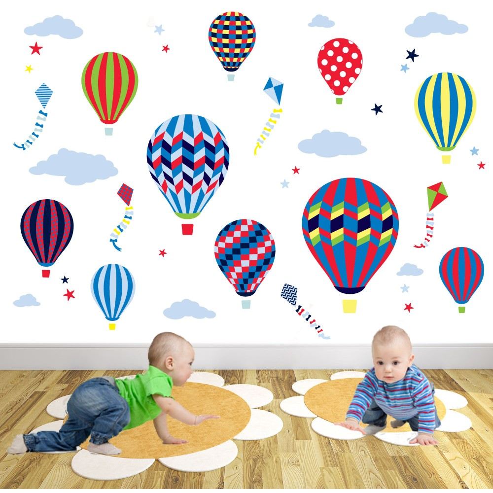Deluxe hot air balloons kites deluxe hot air balloons kites wall stickers amipublicfo Images