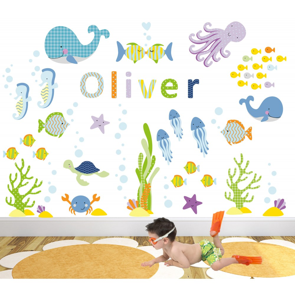 under the sea nursery wall art stickers. Black Bedroom Furniture Sets. Home Design Ideas