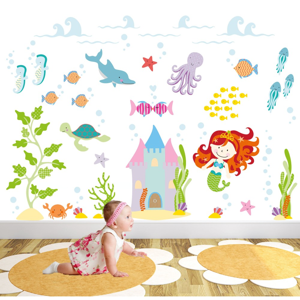 Deluxe Magical Mermaid Wall Stickers