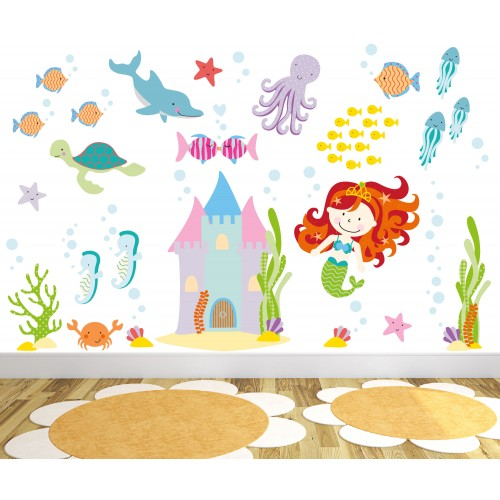 Magical Mermaid Wall Stickers (large)