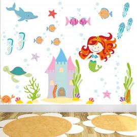 Magical Mermaid Wall Stickers (medium)