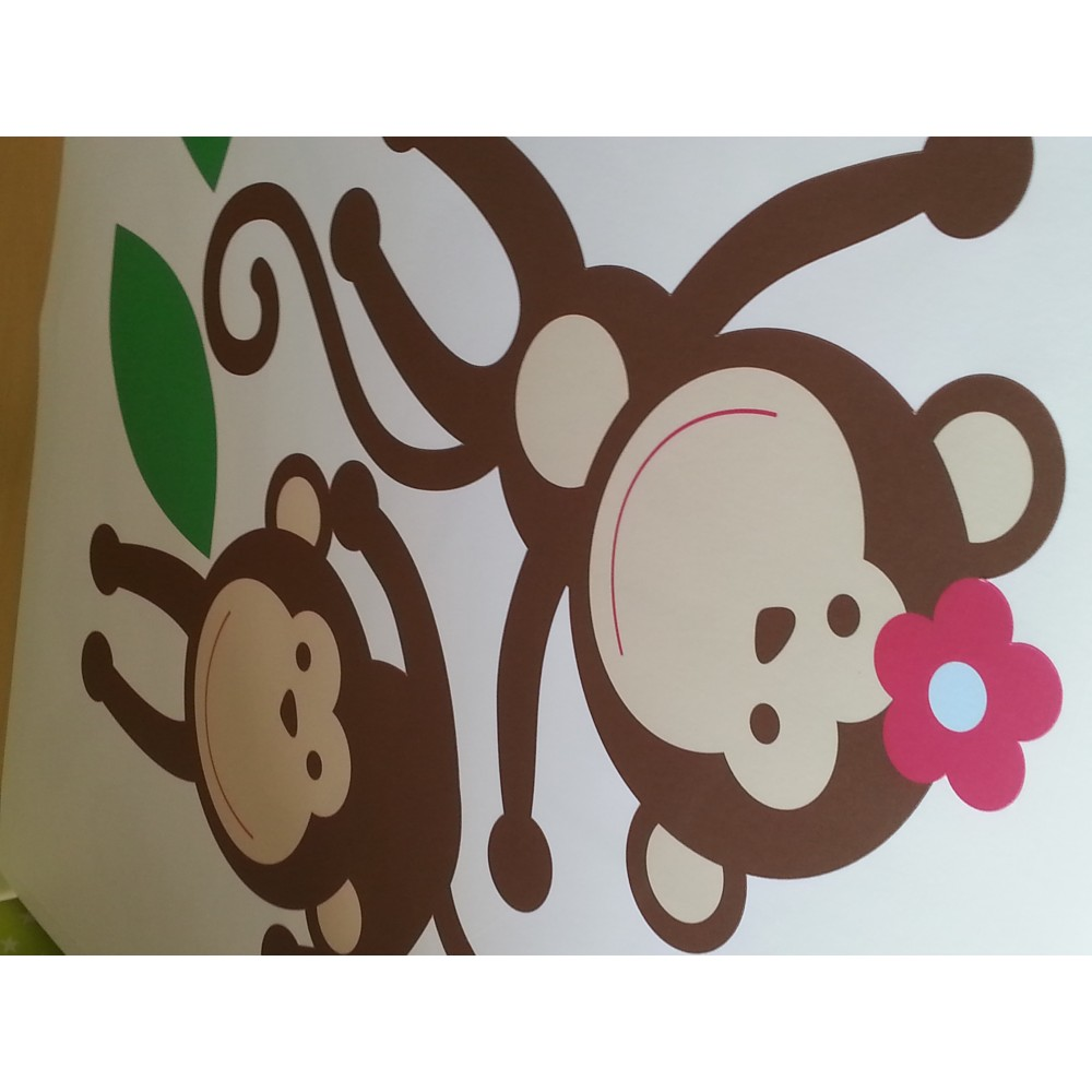 jungle wall stickers for a baby nursery room