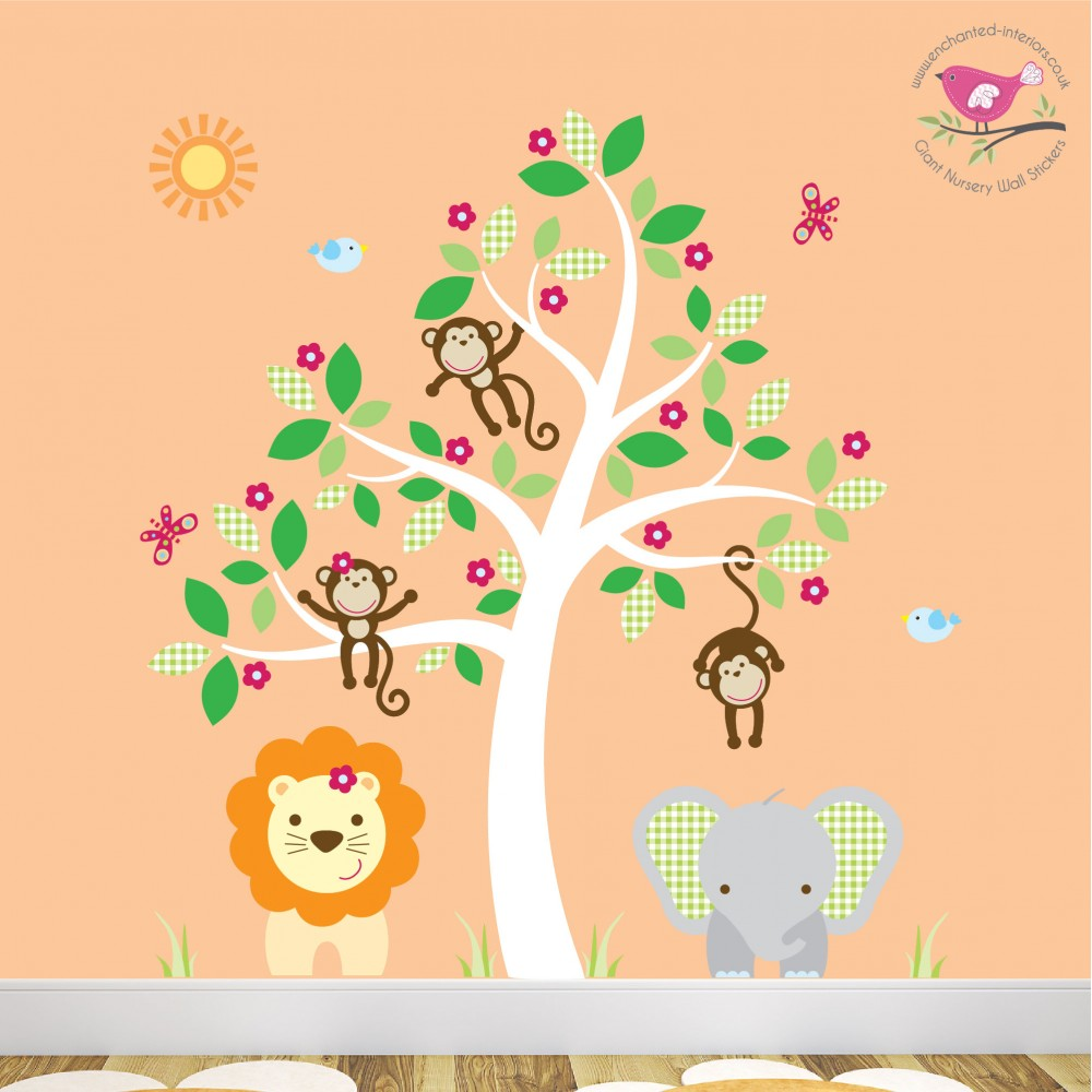 Wall Art Stickers Jungle : Jungle wall stickers for a baby nursery room