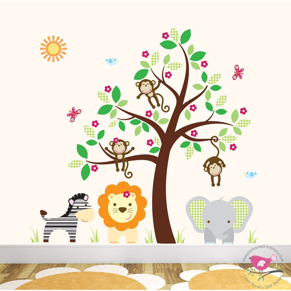 Perfect Jungle Animal Nursery Wall Stickers Part 8