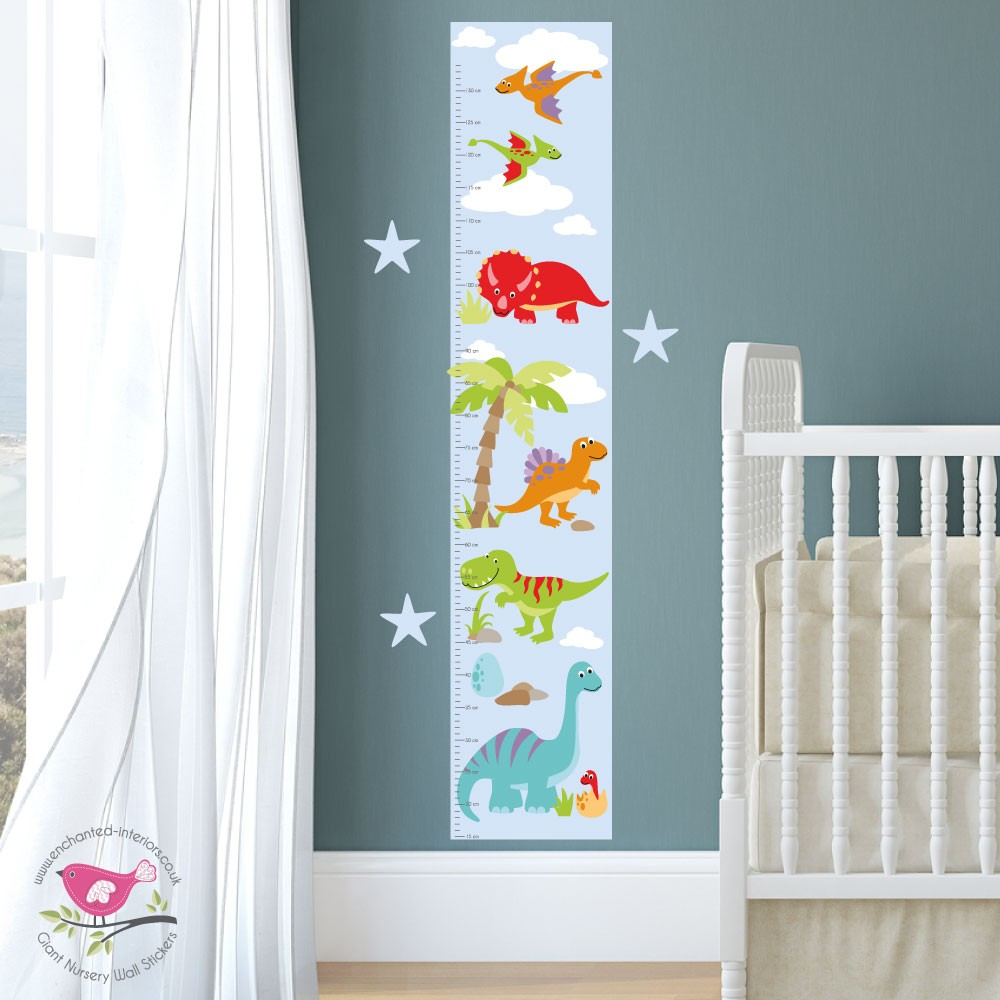 growth charts for children enchanted interiors dinosaur growth chart decal