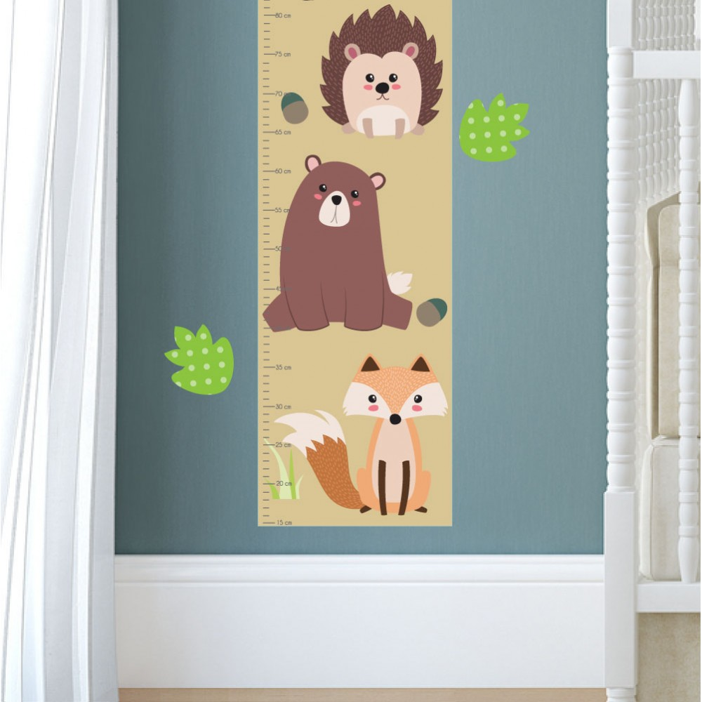 Woodland animal growth chart decal animal growth chart decal previous next nvjuhfo Image collections