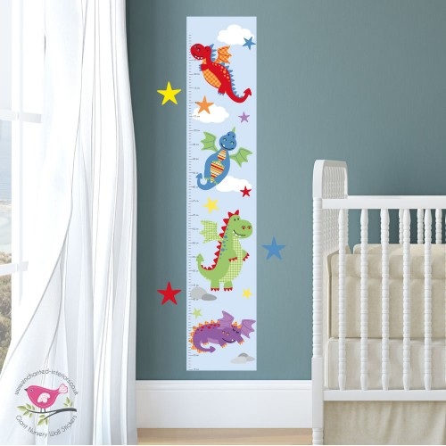 Dragon Growth Chart Decal