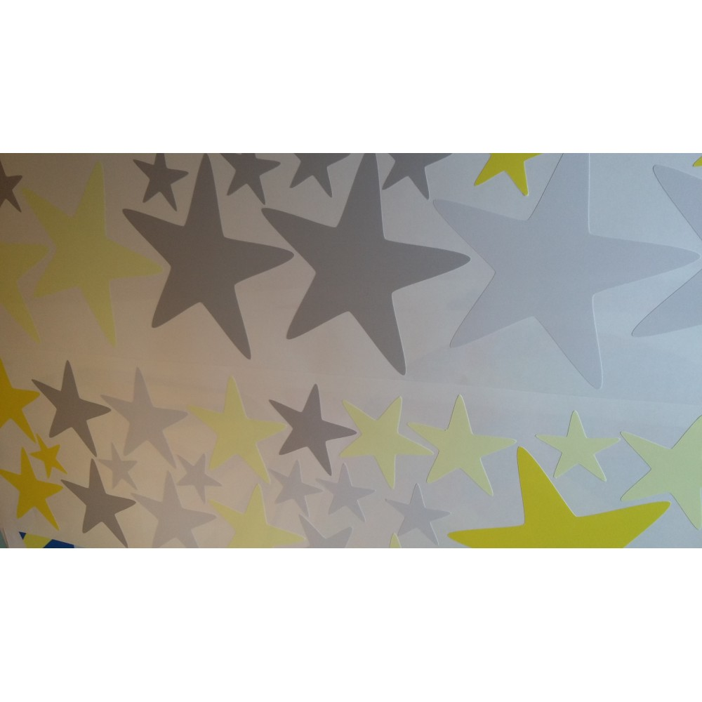 Modern Geometric Nursery Wall Art Sticker Stars