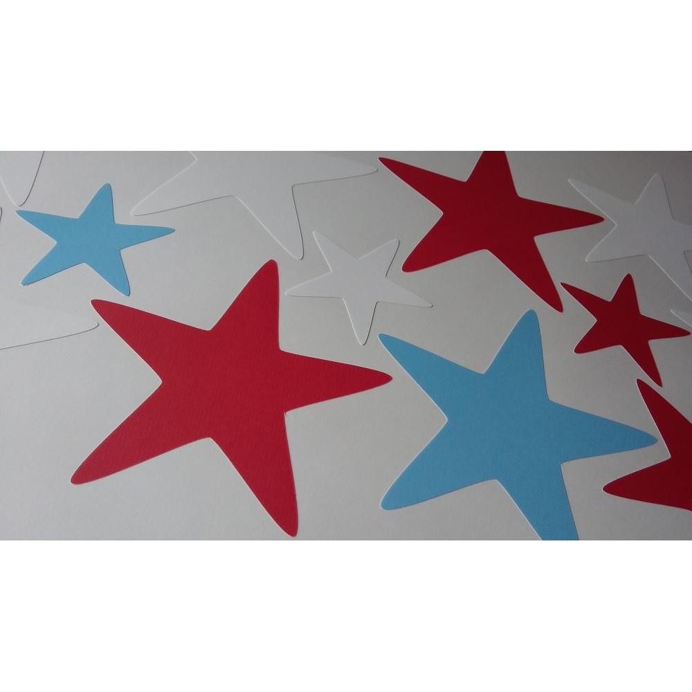 Modern Geometric Nursery Wall Art Sticker Stars