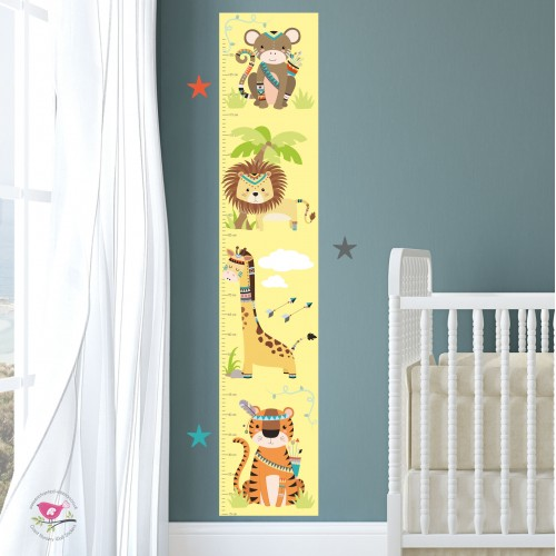 Tribal Jungle Kids Growth Chart