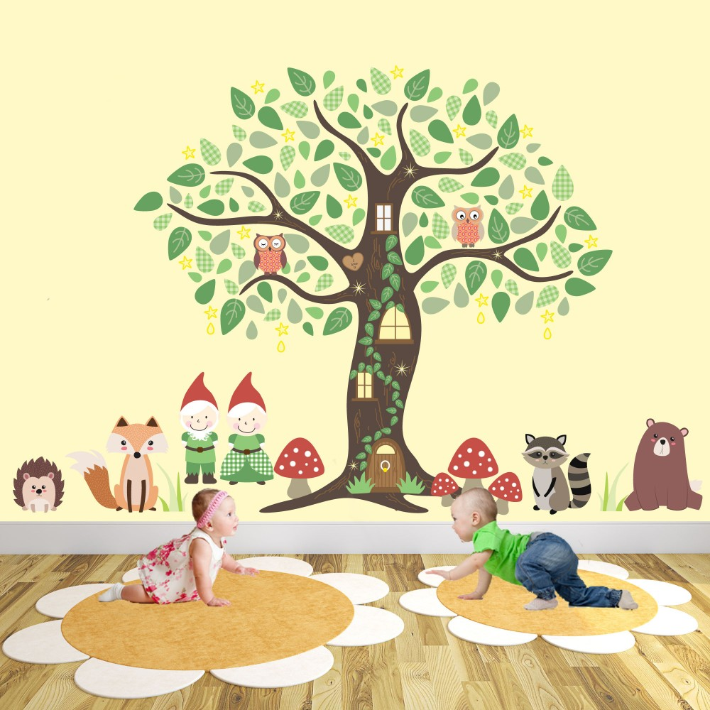 Gnome Garden Nursery Wall Art Stickers