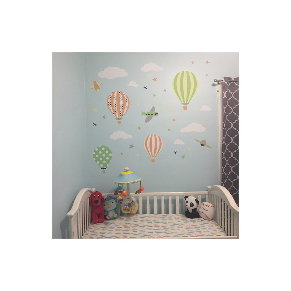 Hot Air Balloon Amp Planes Wall Stickers