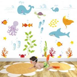 Large Ocean Nursery Wall...