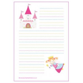 050a50cab5f FREE Magical Fairy Castle Writing Paper