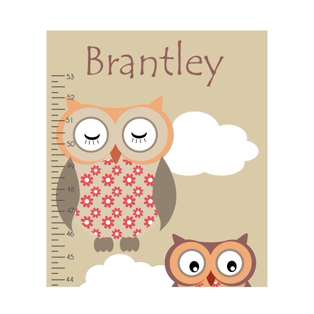 Woodland animal growth chart decal nvjuhfo Image collections