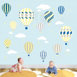 Deluxe Hot Air Balloons Nursery Wall Stickers
