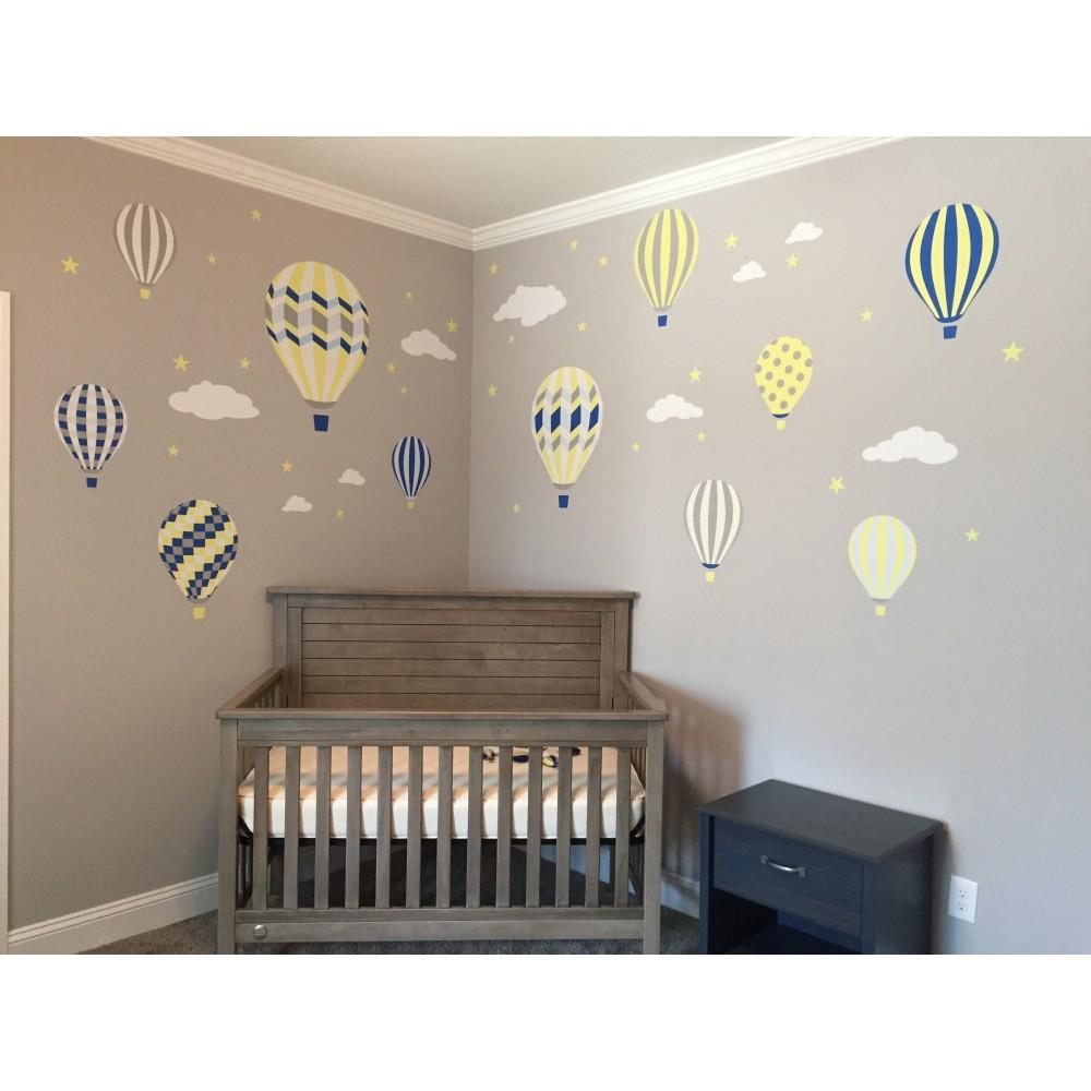 Hot air balloon nursery wall stickers balloons nursery wall stickers previous next amipublicfo Gallery