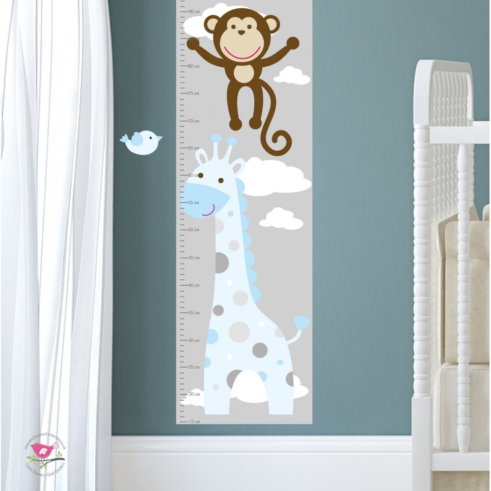 Jungle animal growth chart decal display all pictures nvjuhfo Image collections