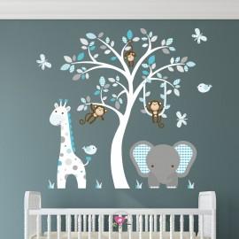 Elephant and Giraffe Jungle...