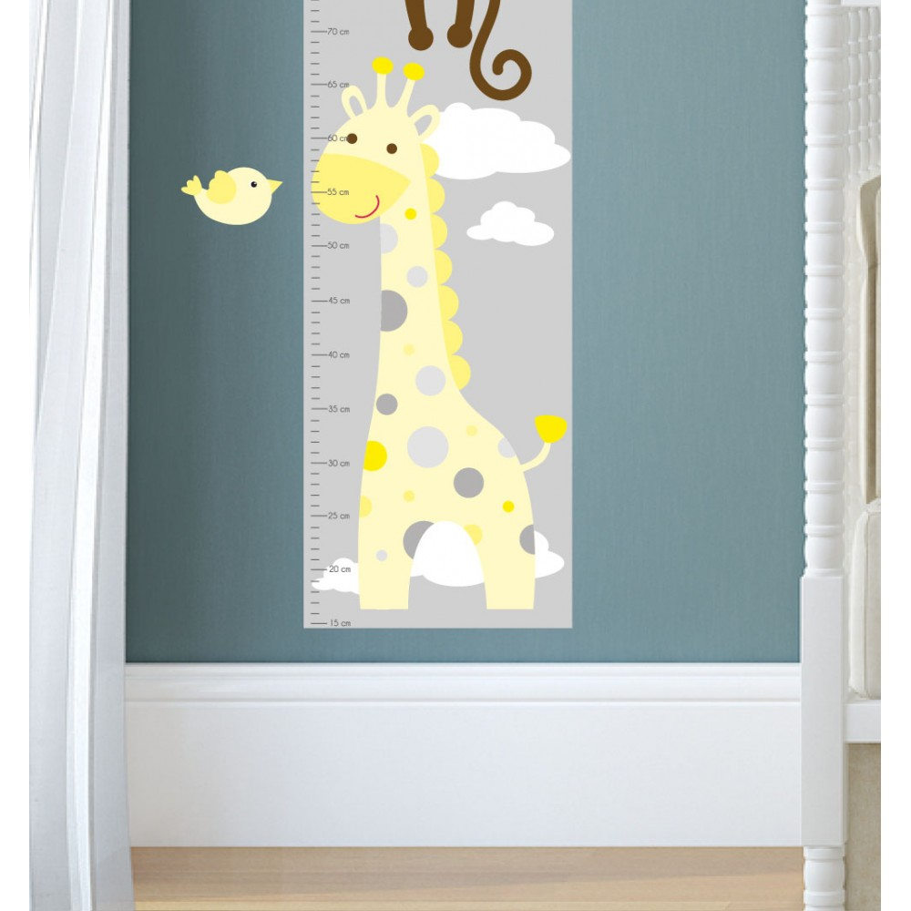 Jungle animal nursery wall art stickers jungle wall decals yellow and grey nursery geenschuldenfo Image collections