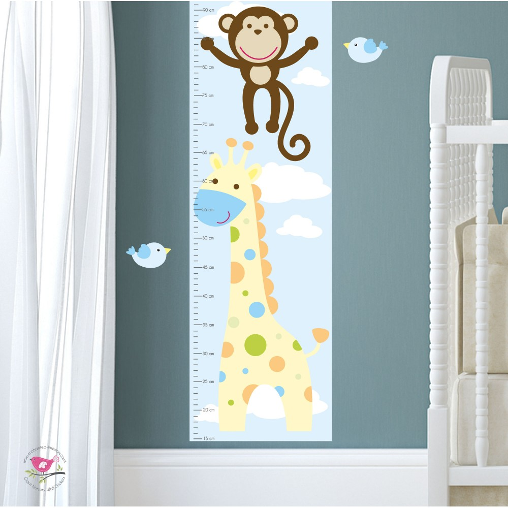 Deluxe safari nursery wall art stickers nursery wall stickers previous next amipublicfo Gallery