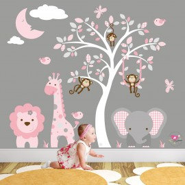 Jungle Wall Art Decals with...