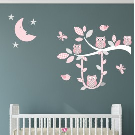 Swinging Owl Branch Decals