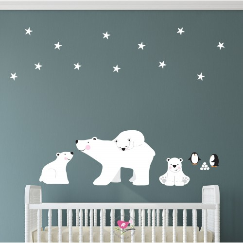 Polar Bears and Penguins Wall Stickers