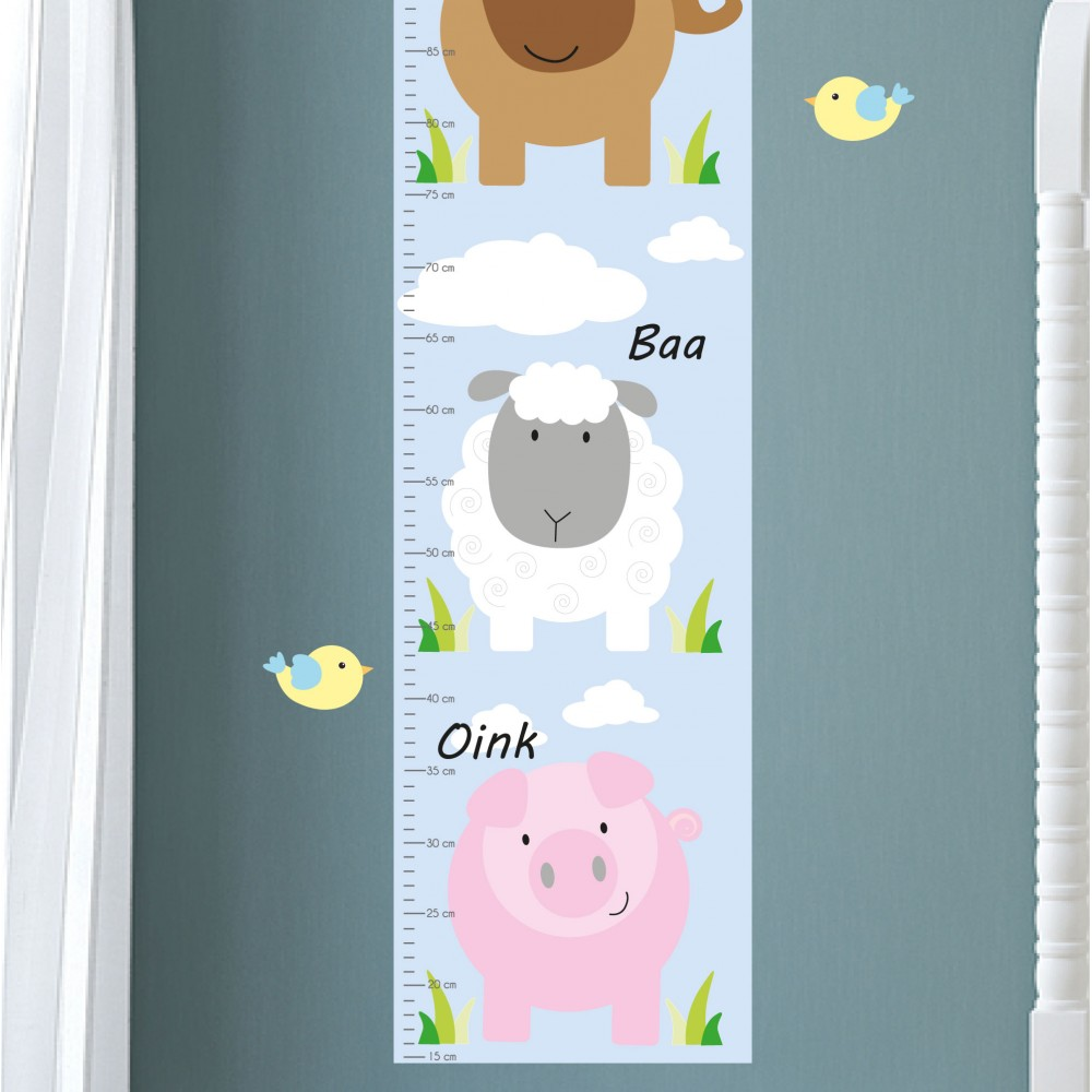Farm animal growth chart decal animal kids growth chart neutral display all pictures nvjuhfo Image collections