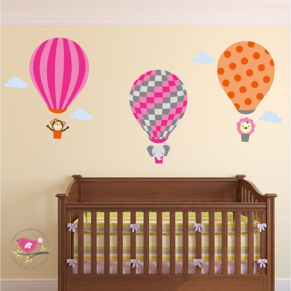 Jungle Hot Air Balloon Wall Stickers