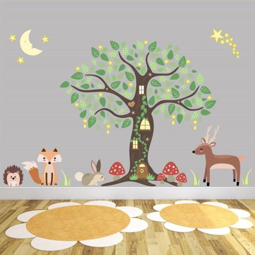 Enchanted Woodland Nursery Wall Art Stickers