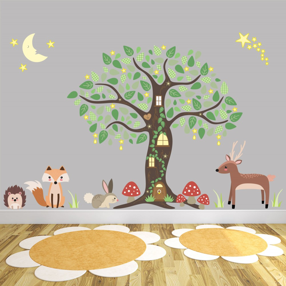 Enchanted Woodland Wall Art Stickers